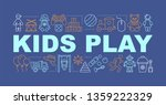 kids toys word concepts banner. ...