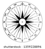 mariner compass can have two or ... | Shutterstock .eps vector #1359228896