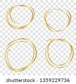 multiple line golden circle... | Shutterstock .eps vector #1359229736