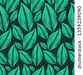 vector seamless floral pattern... | Shutterstock .eps vector #1359239090