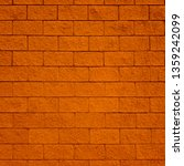 brick tile wall background and... | Shutterstock . vector #1359242099