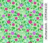 seamless summer pattern ... | Shutterstock .eps vector #1359246110