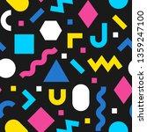 memphis seamless pattern.... | Shutterstock .eps vector #1359247100
