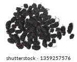 dried black mulberries close up | Shutterstock . vector #1359257576
