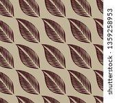 vector seamless floral pattern... | Shutterstock .eps vector #1359258953