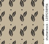 vector seamless floral pattern... | Shutterstock .eps vector #1359258956