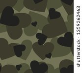 Military Camouflage With Hearts ...