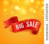big sale banner. red realistic... | Shutterstock .eps vector #1359265316