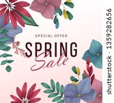 spring sale background with... | Shutterstock .eps vector #1359282656