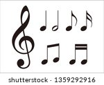 musical note music symbol ... | Shutterstock .eps vector #1359292916