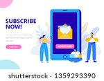 e mail subscribe concept. flat  ...