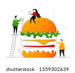 fast food   flat design style... | Shutterstock .eps vector #1359302639