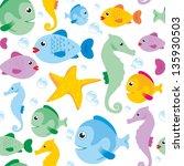 sea life texture | Shutterstock . vector #135930503