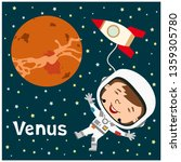 funny astronaut in a spacesuit... | Shutterstock .eps vector #1359305780