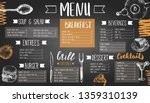restaurant menu templated with... | Shutterstock .eps vector #1359310139