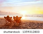 Small photo of beach holidays, romantic getaway retreat for couple, luxurious vacation