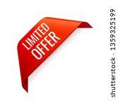 red vector banner ribbon on... | Shutterstock .eps vector #1359325199