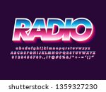 80s font with metallic and...   Shutterstock .eps vector #1359327230