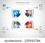 infographic design template... | Shutterstock . vector #135932786