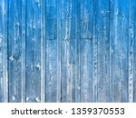 old background of blue wooden... | Shutterstock . vector #1359370553