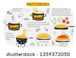 how to cook pasta guide ... | Shutterstock .eps vector #1359372050