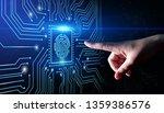 fingerprint scan provides... | Shutterstock . vector #1359386576