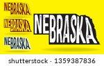 nebraska map design  vector eps ... | Shutterstock .eps vector #1359387836