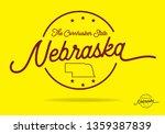 nebraska logo design with... | Shutterstock .eps vector #1359387839