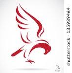 vector of eagle design on white ...   Shutterstock .eps vector #135939464