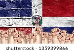 male hands clenched in a fist... | Shutterstock . vector #1359399866
