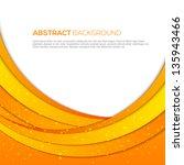 3d absatract orange background | Shutterstock .eps vector #135943466