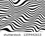 black and white wave stripe... | Shutterstock .eps vector #1359442613