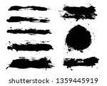 brush strokes. vector... | Shutterstock .eps vector #1359445919