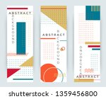 abstract retro vertical banners ... | Shutterstock .eps vector #1359456800