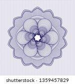 blue rosette. linear... | Shutterstock .eps vector #1359457829