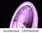 purple lights of  ferris wheel  ... | Shutterstock . vector #1359463346