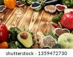 healthy food clean eating...   Shutterstock . vector #1359472730