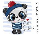 cute baby cartoon panda in... | Shutterstock .eps vector #1359475613
