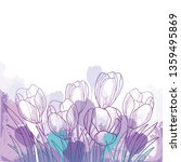 vector spring bouquet with... | Shutterstock .eps vector #1359495869