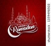 welcoming ramadan greeting card ... | Shutterstock .eps vector #1359498503