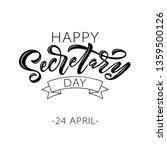 happy secretary day hand... | Shutterstock .eps vector #1359500126