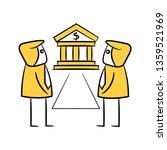 businessman banker yellow... | Shutterstock .eps vector #1359521969