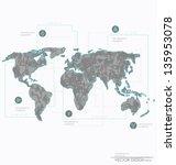 set elements of infographics.... | Shutterstock .eps vector #135953078
