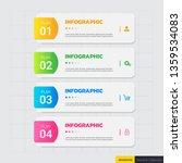 infographics template 4 options ...   Shutterstock .eps vector #1359534083