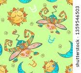 a fun seamless pattern for kids.... | Shutterstock .eps vector #1359546503