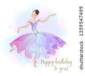 card with a ballerina princess. ... | Shutterstock .eps vector #1359547499