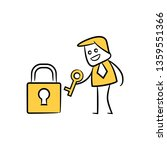 businessman and key yellow... | Shutterstock .eps vector #1359551366
