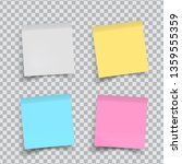 set of color stickers papers on ... | Shutterstock .eps vector #1359555359