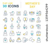 set of vector line icons of... | Shutterstock .eps vector #1359564299
