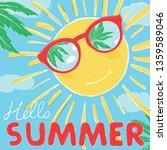 funny the sun in glasses smiles....   Shutterstock .eps vector #1359589046